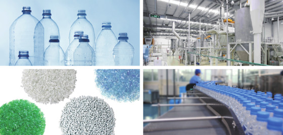 Polyester chip production line for food-grade recyclable bottles